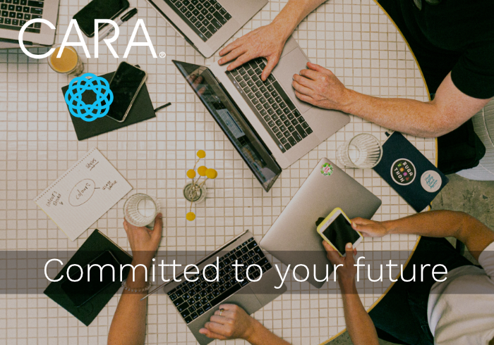 the cara group blog image with committed to your future tagline